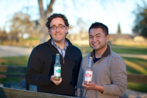 L-R Payam Fardanesh and Srijun Srinuanchan with their all-natural, organic soda. Photo: Nishelle Galloway