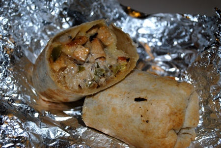 Chicken burrito Photo by Lovelle Harris